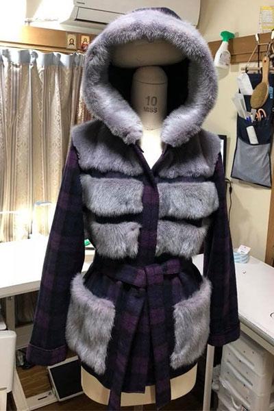ウール&ミンク仕立てのジャケット